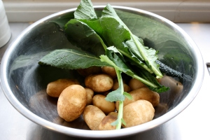 Agrarian Kitchen potatoes & spinach