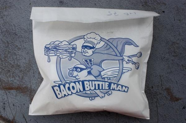 Otago markets Bacon buttie bag